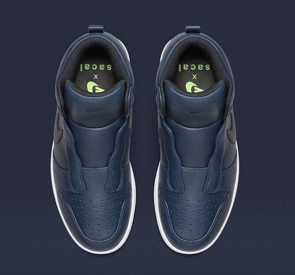 Nike Dunk High Lux Slip On x Sacai Royal Blue (2)