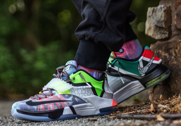 Nike KD 7 What The KD aux pieds