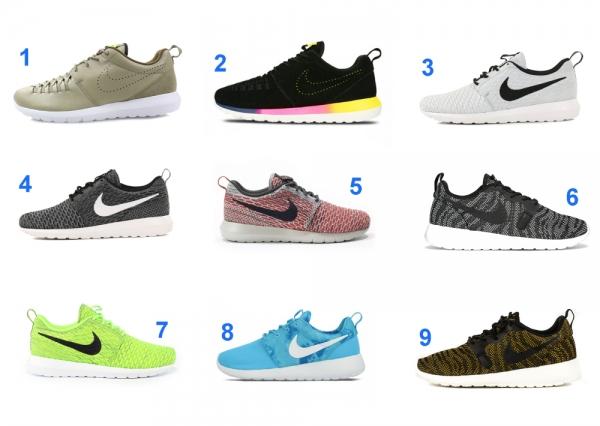 9 Nike Roshe Run en Soldes (été 2015)