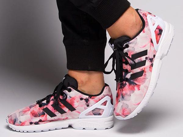 adidas zx flux avec rose