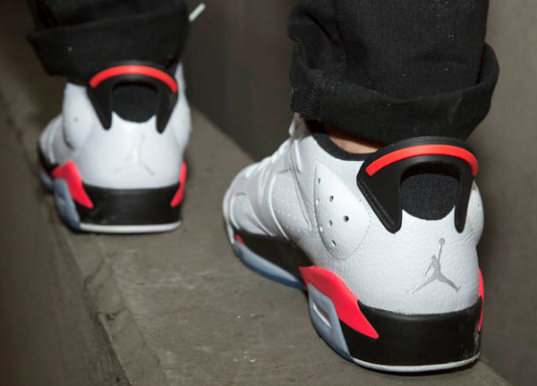 Air Jordan 6 Retro Low Infrared aux pieds (6)