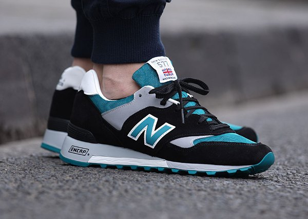 New Balance 577 Black Teal Grey  (1)