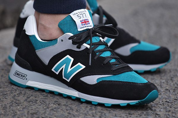New Balance 577 Black Teal Grey  (2)