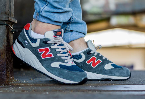New Balance ML 999 AD Grey Red (2)