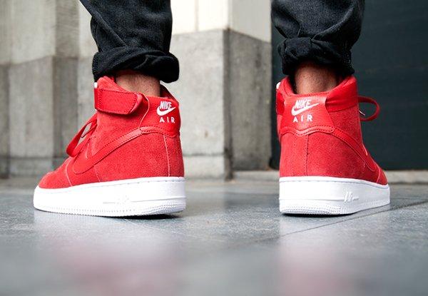 Nike Air Force 1 High '07 Gym Red White (1)