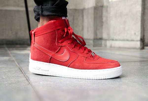 Nike Air Force 1 High '07 Gym Red White (2)