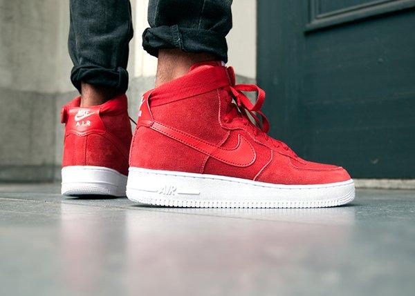 Nike Air Force 1 High '07 Gym Red White