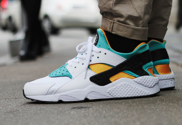 Nike Air Huarache OG 2015 White Sport Turquoise University Gold (7)