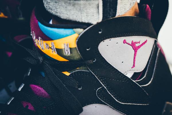 Nike Air Jordan 7 Retro Bordeaux 2015 aux pieds (1)