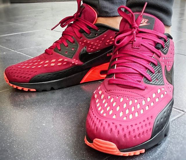 the latest ef50b 55097 ... nike air max 90 ultra br team red crimson (2)