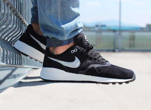 Nike Air Odyssey Leather 87 Black Night Silver (3)