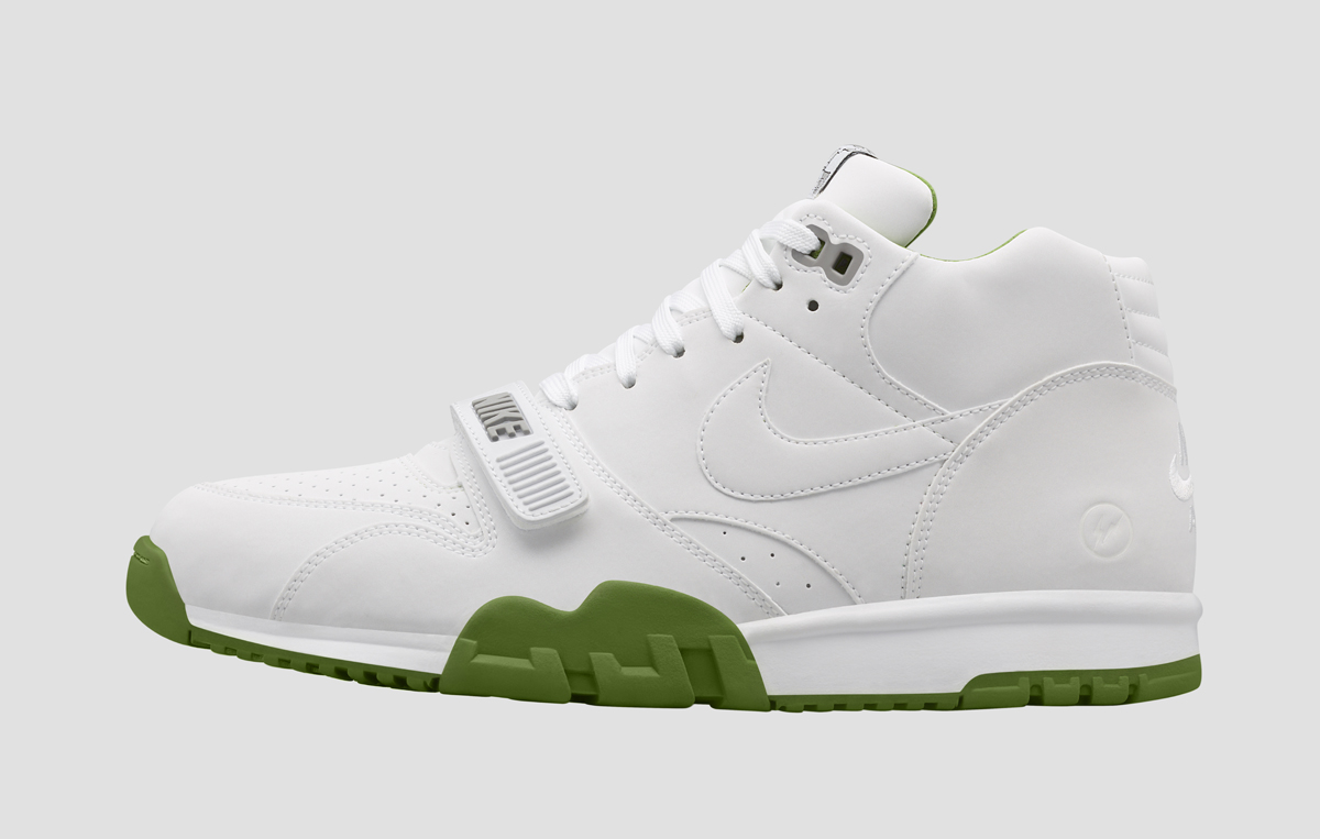 Nike Air Trainer 1 Mid SP x Fragment Wimbledon White (1)