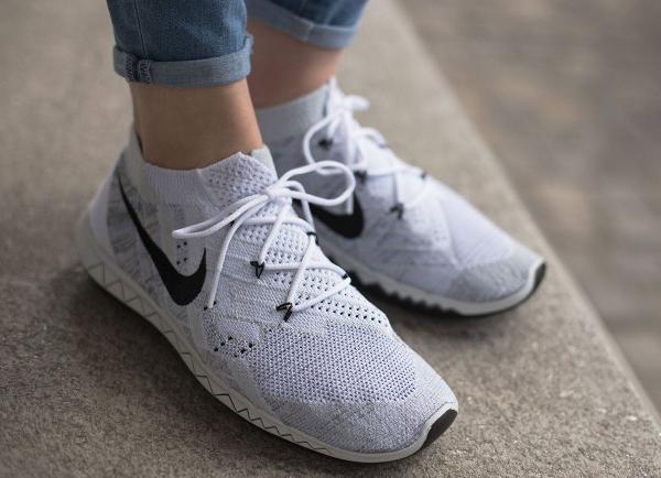 Nike Free Flyknit White Black-Pure Pure Platinum (3)