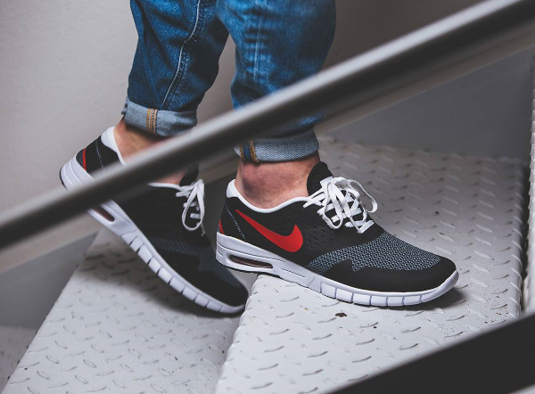 Nike Koston 2 Max Black Grey University Red (2)