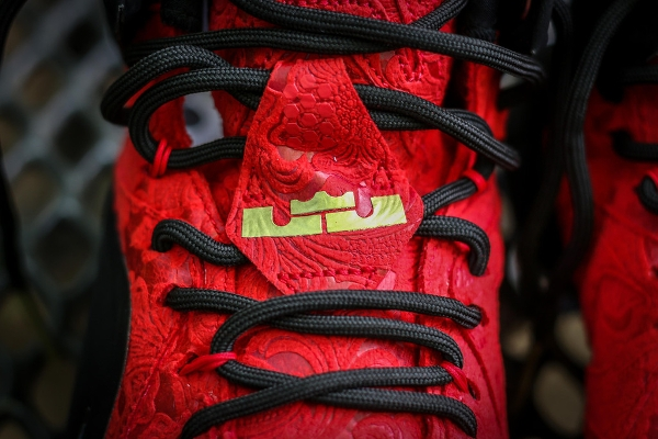 various colors d453f ce966 Nike Lebron 12 EXT Red Paisley