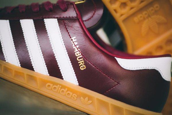 quite nice 06ea1 5ae08 Adidas Hamburg Leather Burgundy Made in Germany (1)