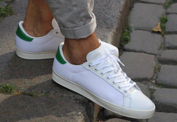 laver basket blanche adidas