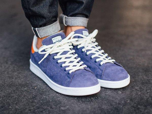 Adidas Stan Smith Indigo Orange White (1)