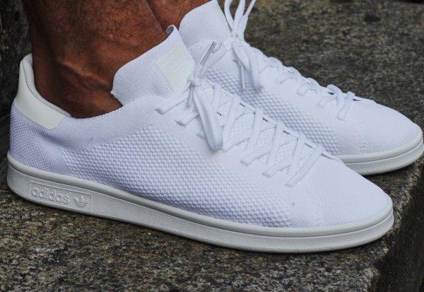 Chaussures Stan Smith - Primeknit Blanche et Verte lzoMSNaSwU