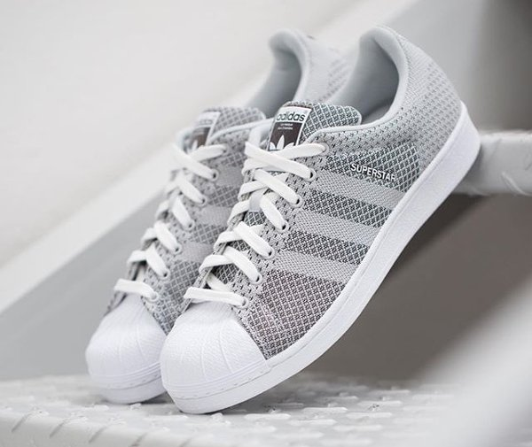 Adidas Superstar Weave Grey White | Sneakers actus