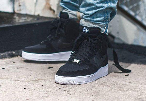 nike air force 1 high black white gum