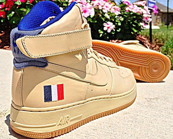 Nike Air Force 1 ID Country Flags France