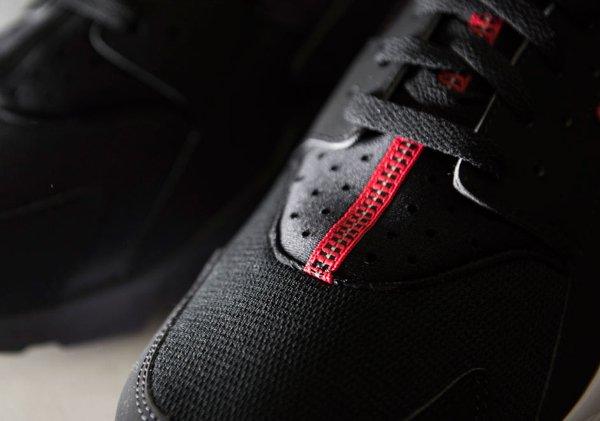 Nike Air Huarache Black University Red  (6)