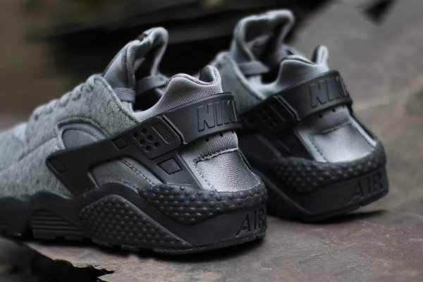 Nike Air Huarache Cool Grey Black (3)