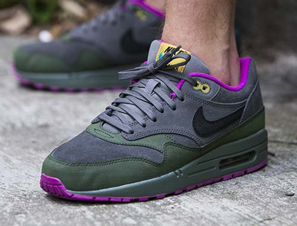 Nike Air Max 1 LTR Pewter Green Fuchsia | Sneakers actus