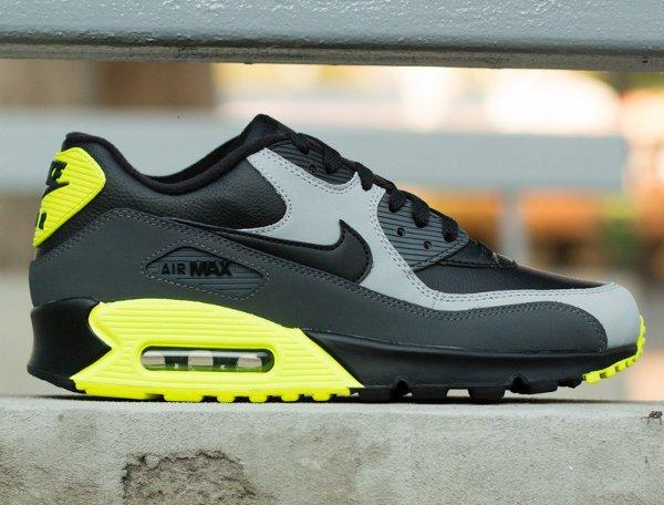 Nike Air Max 90 LTR Black Grey Volt (2)
