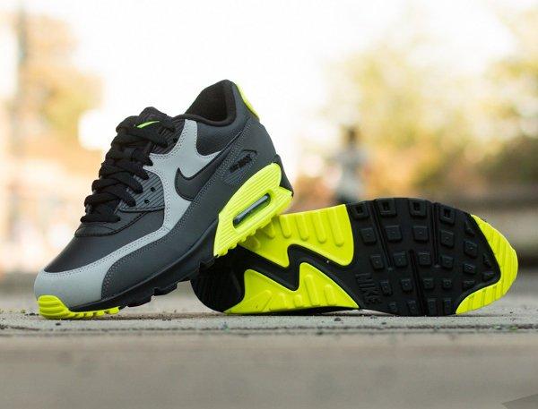 Nike Air Max 90 LTR Black Grey Volt (3)