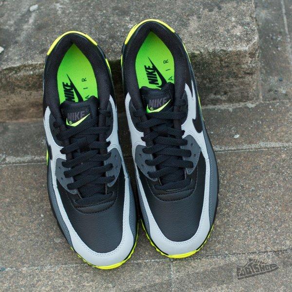 Nike Air Max 90 LTR Black Grey Volt (4)