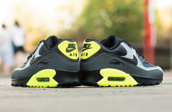 Nike Air Max 90 LTR Black Grey Volt (5)