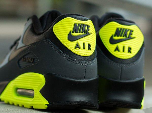 Nike Air Max 90 LTR Black Grey Volt (6)