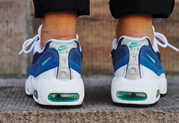 Nike Air Max 95 OG White New Green Bright Blue (4)