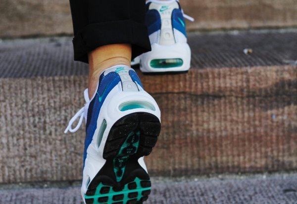 Nike Air Max 95 OG White New Green Bright Blue (5)