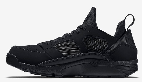 Nike Air Trainer Huarache Low Black Black (4)