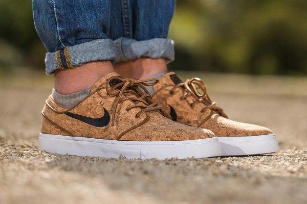 Nike SB Janoski Cork aux pieds (2)