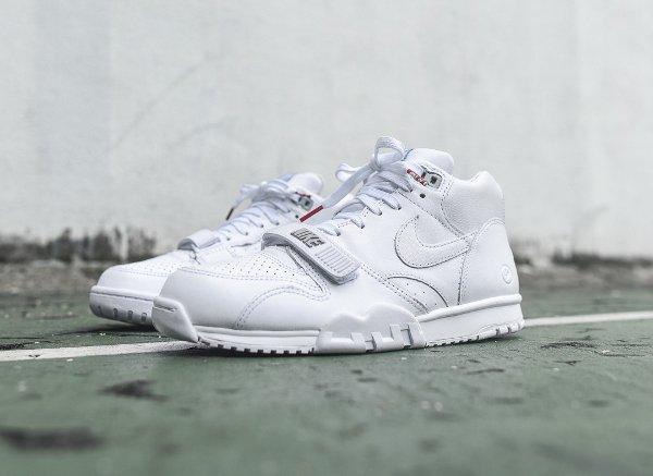 NikeLab Air Trainer 1 mi montante blanche (1)