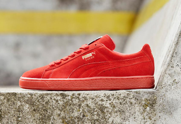 puma suede rouge orange