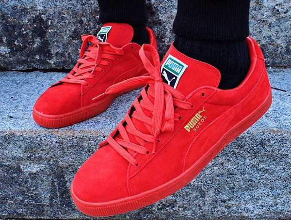 puma suede mono iced rouge