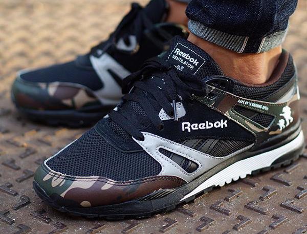 Reebok Ventilator Camo x AAPE Bape   Sneakers actus