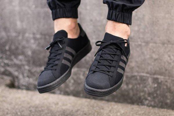 Adidas Campus tissée noire (2)