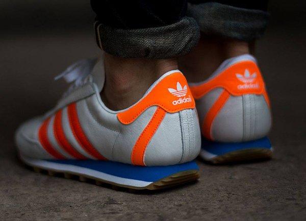 Adidas Originals Nite Jogger blanche orange (1)