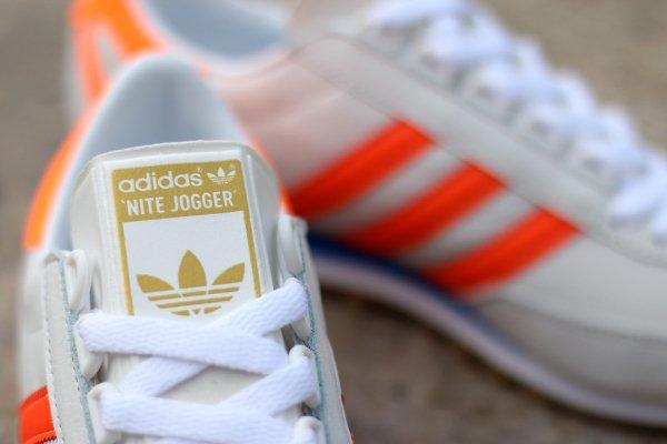 Adidas Originals Nite Jogger blanche orange (3)