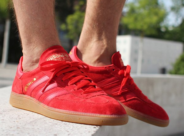 utterly stylish big discount cheap for sale Adidas Spezial Suede Grey & Red Gum | Sneakers-actus