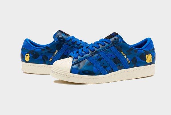 Adidas Superstar 80's x Bape x Undefeated (1)