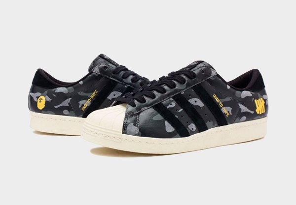 Adidas Superstar 80's x Bape x Undefeated