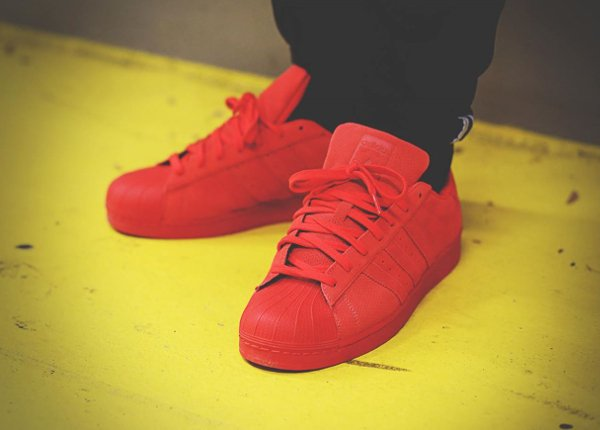 new arrival 5485d 05114 Adidas Superstar RT Triple Red Suede (6)