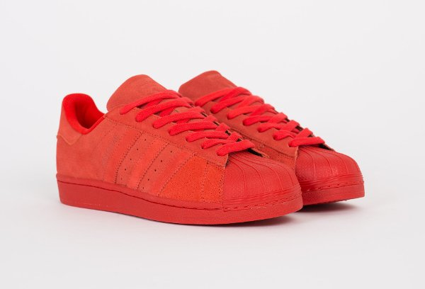 Adidas Superstar RT suède rouge (4)